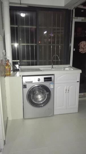 名爵(MEJUE) Z-7202120免漆实木浴室柜阳台洗衣柜落地柜台面带搓衣板组合柜 晒单图
