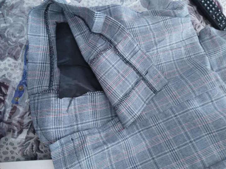 【送手表】买一得二 秋装气质英伦格子小西装套装女秋季2017新款高腰百褶半身裙两件套 灰色 L 晒单图