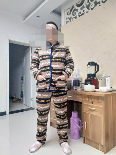 艾斯六佰  睡衣男居家服男加厚金丝绒夹棉睡衣男士长袖棉袄加大码家居服男款套装 老虎 XL 晒单图
