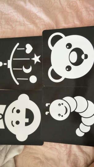彩色卡黑白卡片全4册视觉激发卡 撕不烂0-1-2-3岁婴儿颜色认知卡宝宝全脑开发启蒙早教 晒单图