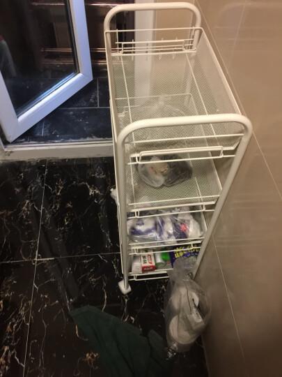 心家宜 铁艺置物架 厨房可移动储物收纳层架 四层收纳车GX_5405W 晒单图