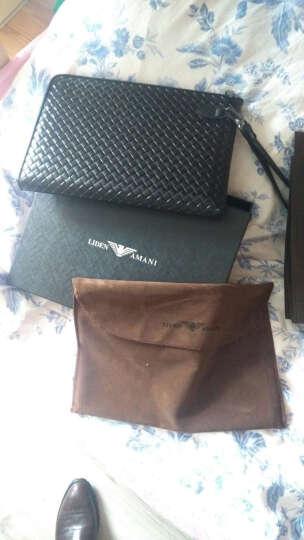 利登阿玛尼LIDENAMANI意大利真皮大容量男士商务休闲牛皮手包拿包抓包长款钱包ipad信封包 黑色B款 晒单图