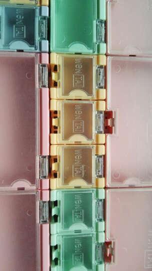 云野SMD电子元器件盒 零件盒迷你工具盒 元件收纳盒翻盖方便 外3CMx2.5CMx2CM 贴片组合式元件盒 黄色 一个 晒单图