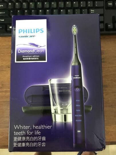 飞利浦(PHILIPS)电动牙刷HX9372/04 钻石亮白型 充电式成人声波震动 魅惑紫钻 晒单图
