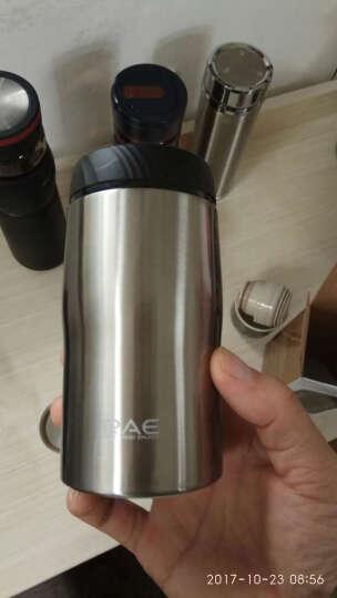 然也(RAE)260ml双层不锈钢保温杯壶泡茶汽车杯子 男女士情侣学生时尚商务车载办公随身水杯 本色R3200 晒单图