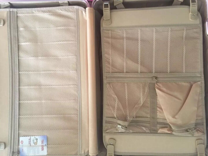 WOK拉杆箱24英寸铝框行李箱女学生万向轮旅行箱包20英寸登机箱潮26硬箱子登机箱密码箱男 钛金色 大包角铝框 26英寸 晒单图