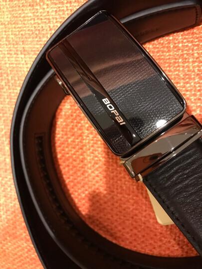 博牌bopai皮带男士牛皮腰带男式韩版自动扣裤带潮 黑色713-005881 晒单图