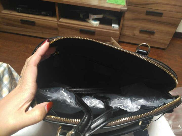 COACH 蔻驰 奢侈品 女士深棕色配黑底皮革手提斜挎包贝壳包 大号 F58287 IMAA8 晒单图