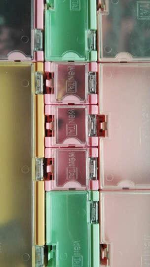 云野SMD电子元器件盒 零件盒迷你工具盒 元件收纳盒翻盖方便 外3CMx2.5CMx2CM 贴片组合式元件盒 粉红色 一个 晒单图