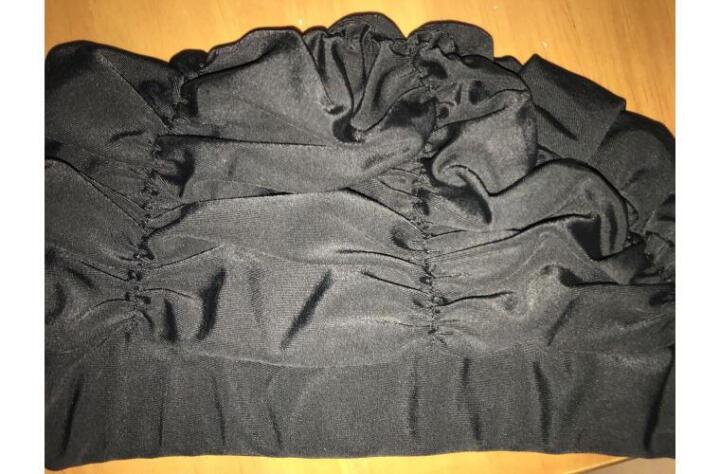 卡思特  男女通用舒适布质泳帽 成人加大不勒头长发护耳游泳帽 KM-01黑色 晒单图