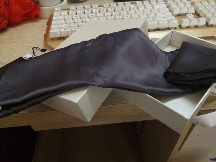 依纱贝拉/ISABELLA真丝枕套100桑蚕丝重磅丝绸枕头套重磅真丝枕套 【欧标】THE22MM 美式枕套 木炭/单只 晒单图