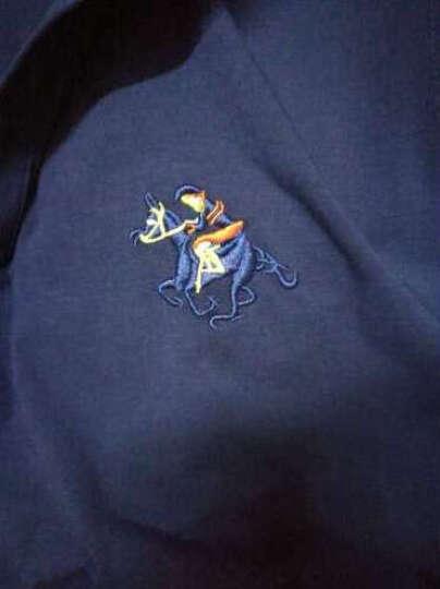 Jeep吉普 长袖t恤男 新品夏季男装衣服时尚休闲简约舒适纯色印花短袖 POLO衫男 长袖黑色 185/XXL 晒单图