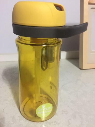茶花(CHAHUA) 吸管杯子便携防漏塑料随手杯学生儿童水杯运动水壶孕妇产妇大容量净水杯 700ML樱花粉-无滤芯 晒单图