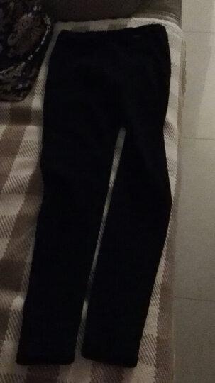 韩国春秋季纯棉磨毛纯色基础款打底裤女显瘦棉质弹力小脚铅笔裤精品 加绒浅灰 均码 晒单图
