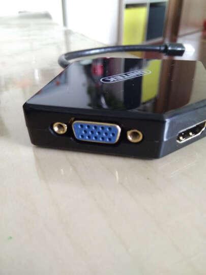 优越者(UNITEK)Mini DP转VGA/HDMI/DVI三合一转换器 迷你Displayport转接器 苹果雷电接显示器连接线Y-6353BK 晒单图