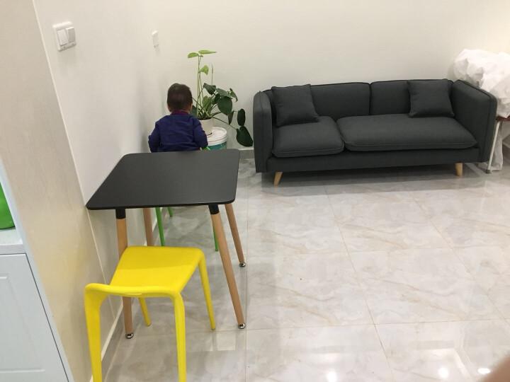 百思宜 椅子创意时尚塑料餐椅小马椅现代简约咖啡厅甜品店备用可叠放凳子 柠檬黄(PP材质) 晒单图