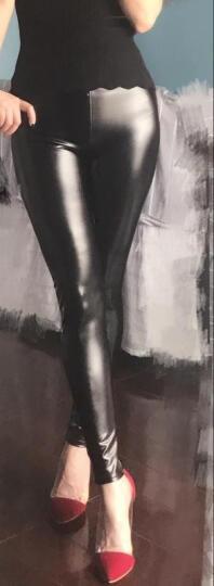 子婳打底裤新款秋冬PU皮裤加绒裤女小脚裤紧身打底裤女外穿保暖 亮光磨毛款 M建议80斤-110斤 晒单图