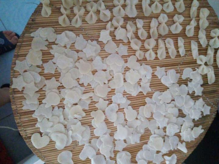德立(DOLO) 不锈钢花型蔬菜水果切花器 饼干印花模套装 卡通宝宝蝴蝶面片压花刀切模具 白方蝴蝶面2件套 晒单图