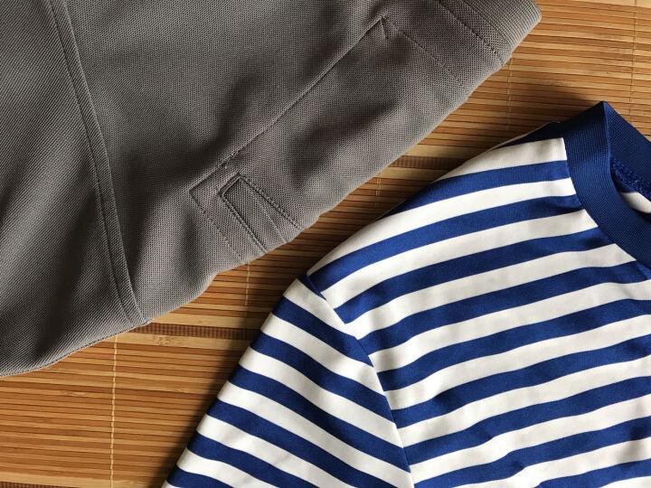 龙牙B2级经典COOLMAX海魂衫情侣衫夏季圆领短袖T恤打底衫铁血君品 蓝/白(无罗纹款)三代 S 晒单图