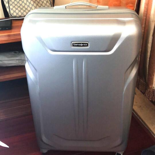 新秀丽拉杆箱万向轮行李箱男女旅行箱密码箱Samsonite可托运箱61Q银色25英寸 晒单图