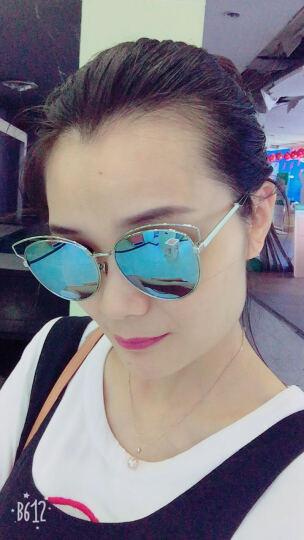 DIOR 迪奥 女款银色镜框蓝色镀膜镜片眼镜太阳镜 DIORSIDERAL2 JA6T7 56mm 晒单图