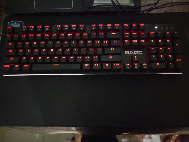 本手幻影机械键盘光轴青轴黑轴台式电脑笔记本有线金属游戏键盘键鼠套装 红光版黑轴+锋刃黑色鼠标 晒单图