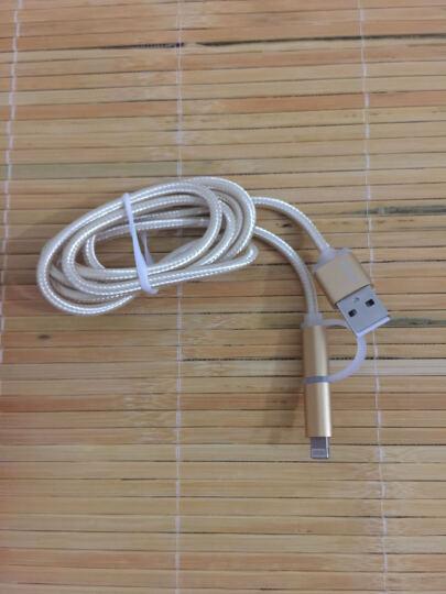 Capshi 苹果数据线 安卓二合一 手机充电线1米M4金 iphone56Plus78X/iPad/Air三星小米红米Vivo华为oppo 晒单图
