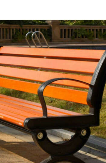 厂家直销 公园椅 长椅子 公园休息椅 木质长椅 休闲铸铝户外椅子 防腐实木公园靠背休闲椅 1.8米进口实木靠背款 晒单图