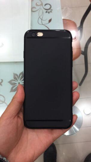 【送钢化膜】UEU 苹果6s/6手机壳保护套硅胶磨砂全包防摔iPhone6 Plus来图定制 6/6S-透亮黑-4.7英寸 晒单图