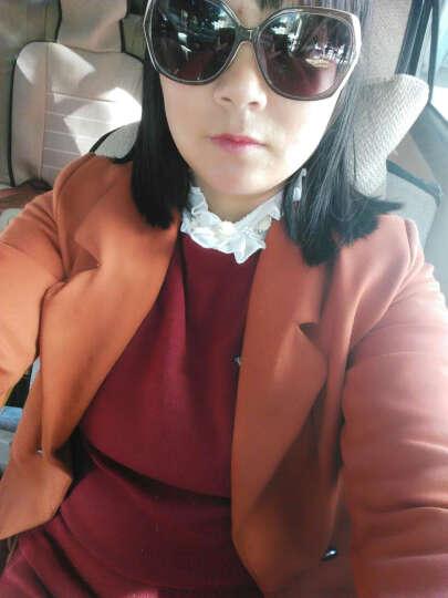顾朵蔓  连衣裙套装2018秋季新款韩版修身毛衣包臀短裙套装女蝴蝶针织两件套 LX722 黑色 M 晒单图