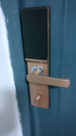 亚太天能(TENON)  V9智能电子门密码锁指纹锁室内卧室防盗门木门房门铁门锁芯具 玫瑰金+指纹+密码+钥匙 晒单图