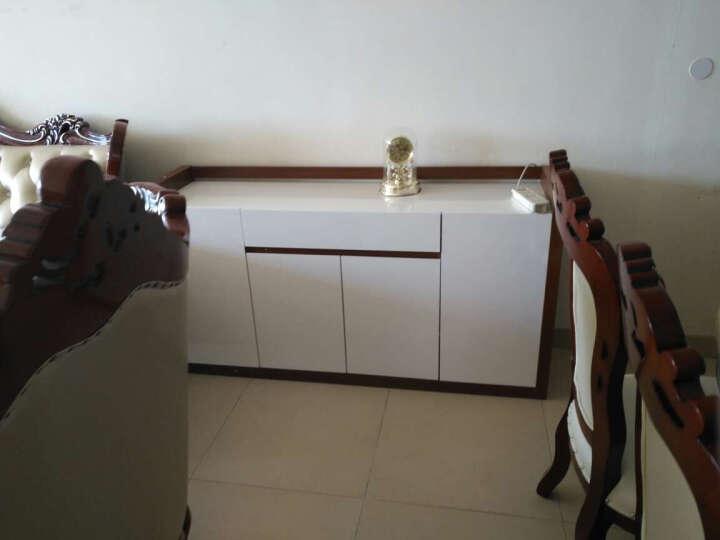 雅术 餐边柜 简约现代白色烤漆餐边柜 碗碟柜 储物柜子 餐边柜1.6米 (柚木色) 晒单图