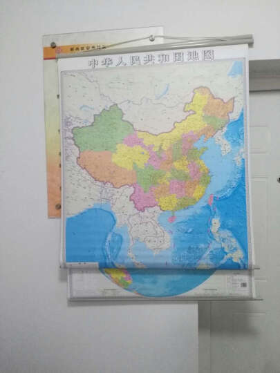 【划区包邮】2017竖版 中国地图挂图世界地图(知识版)1.1*0.9米 世界知识地图 晒单图