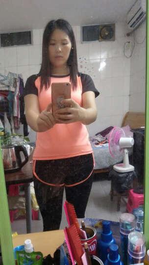 瑜伽服女套装二件套三件套五件套健身服女跑步运动套装女 桔色3件文胸短袖短裤 S 晒单图