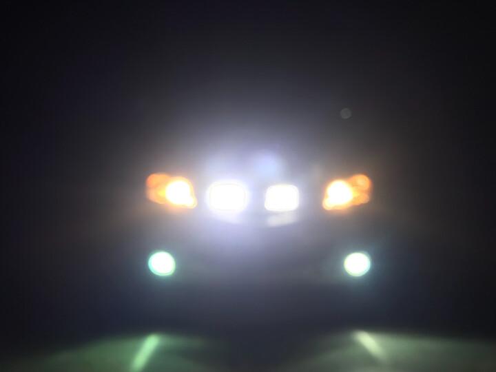 喜视摩托车灯汽车LED射灯大灯电动车灯货车车灯越野车改装超亮24V led灯12V倒车灯 4灯珠方形聚光凸透镜 亮白光 送开关 晒单图