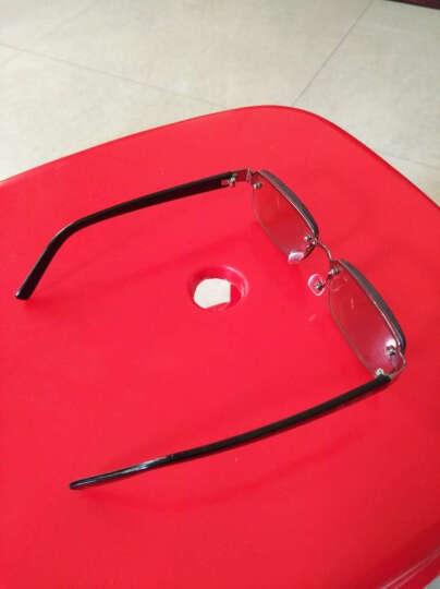 Silver Mink天然水晶眼镜打孔玻璃防疲劳高清晰清凉明目男女老花眼镜 水晶茶片250度(包盒镜布) 晒单图