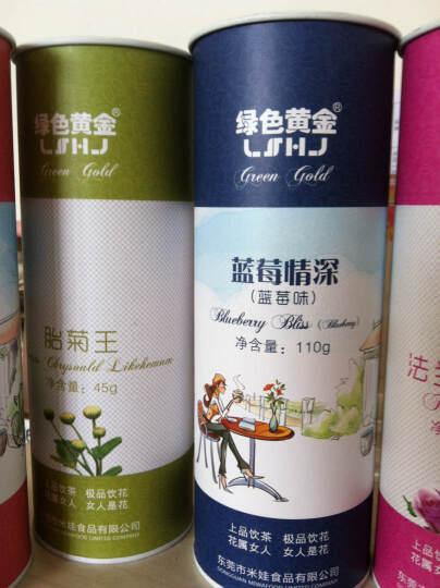 绿色黄金花果茶水果茶蓝莓味花茶叶蓝莓情深花草茶110克 晒单图