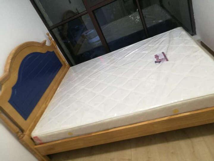 邦利达居  儿童床实木床单人双人床地中海美式男孩床彩色儿童房家具 高箱款 1500*1900 晒单图