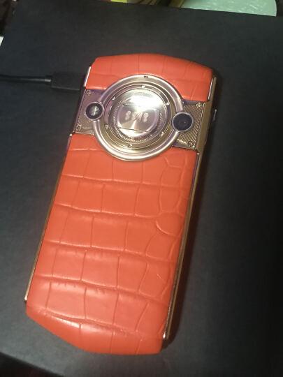 8848 钛金手机 M3巅峰版鳄鱼皮 全网通4G 128G 双卡双待 春夏版落日橙 鳄鱼皮 晒单图