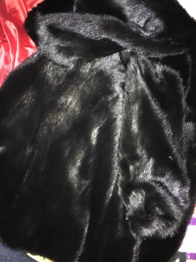 麦卡希妮 2017新款特价进口貂皮大衣女款整貂带帽水貂皮草裘皮中长款外套 白色 M 晒单图