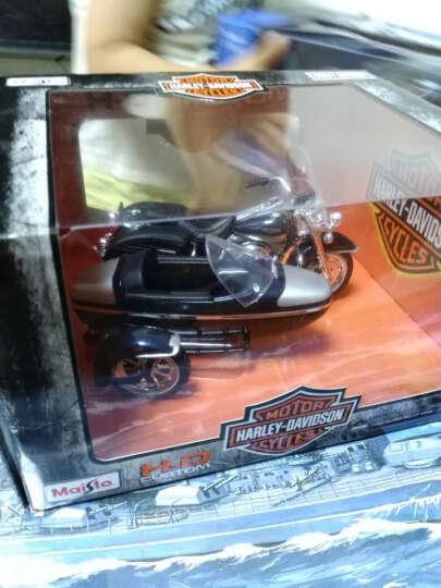 美驰图哈雷挎斗三轮摩托车仿真重机车模型合金车模玩具摆件 1/18 2001 经典路王 晒单图