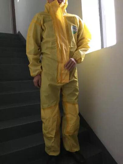 雷克兰(Lakeland)防酸碱带帽连体服防尘服无尘防化服CT1S428 M码 晒单图