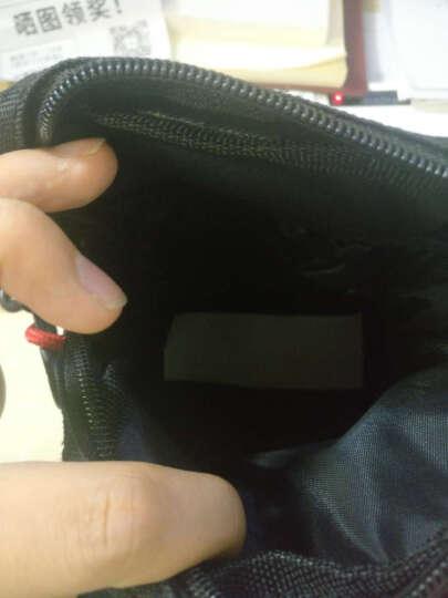 HardieBear斜挎包男迷你小包韩版休闲运动单肩包帆布腰包 黑色(新款) 晒单图