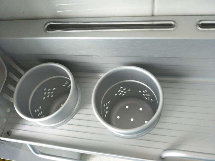 卡贝太空铝厨房挂件置物架壁挂五金刀架调料挂架 A双杯60cm●¥119(热) 晒单图