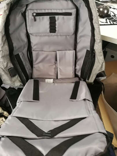 马可莱登双肩背包 男14寸15.6寸电脑包韩版笔记本休闲书包MR_5815 黑色撞色 晒单图