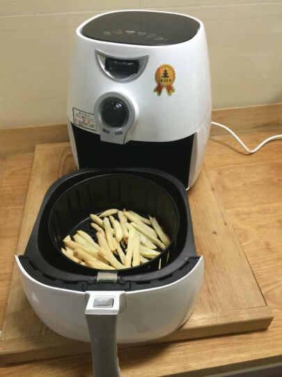 一棵小松树大容量智能液晶款显示空气炸锅 家用无油无烟多功能炸锅多用途电烤箱全自动商用 机械款 白色 晒单图