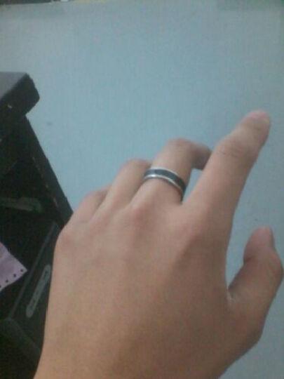 泰腾尼黑道钛钢戒指日韩版潮男个性时尚个性时尚男士指环食指中指无名指单身戒子学生白领首饰品 尺码19号 晒单图
