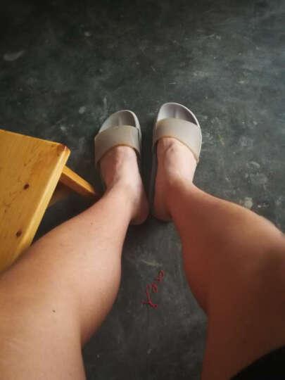 范米尼 真皮拖鞋 夏季居家室内牛皮凉拖鞋 男女老人情侣地板防滑家居拖鞋 504 棕色 男39-40码(27CM) 晒单图