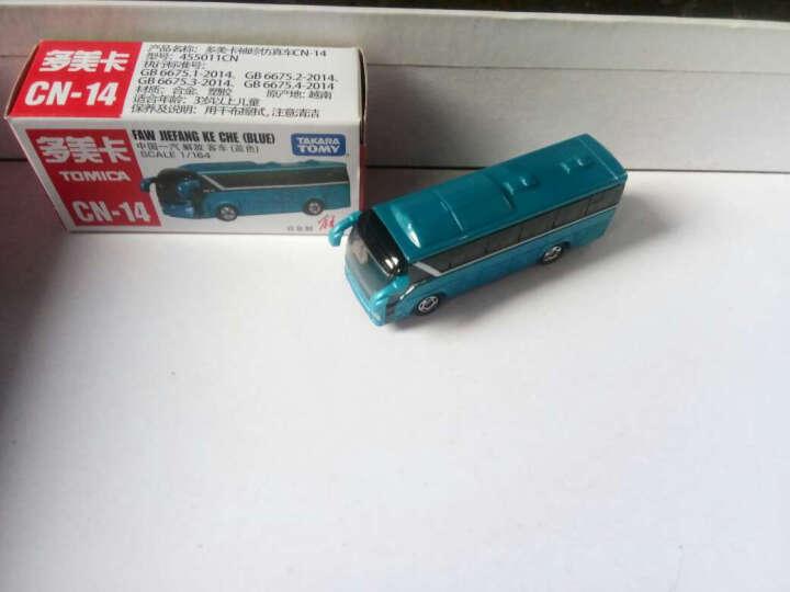 多美卡合金汽车儿童玩具卡车大巴士客车仿真迷你模型车 003#熊猫运输车 晒单图