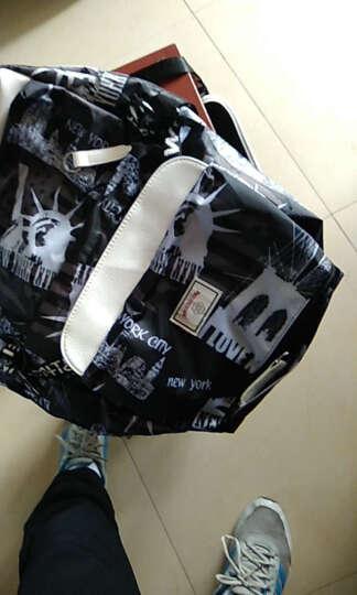 格子印花电脑包背包男士潮包新款学生书包韩版双肩包男 大号充电版格子印花 15寸 晒单图